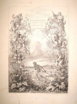 "Lot 28 - NEUREUTHER (E.) coll'n of 1840's etchings incl. ""Tod [Death]"" etc., 21 x 14ins, et infra,"