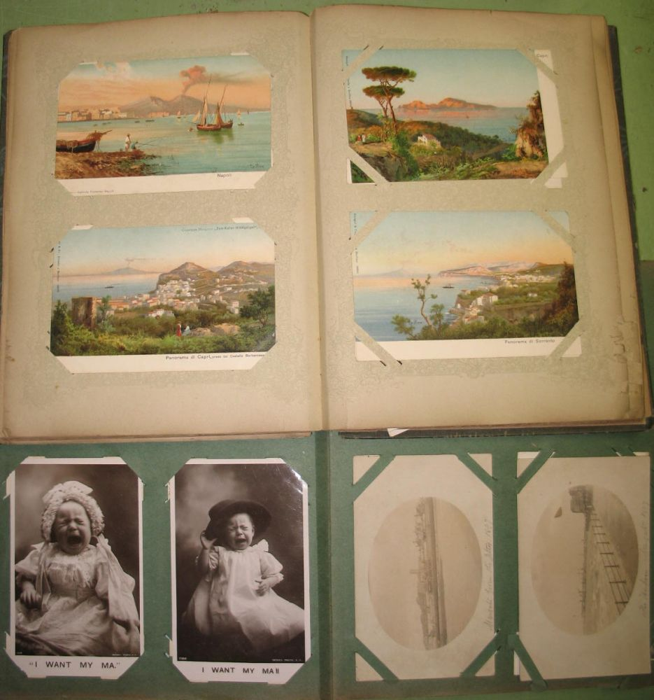 Lot 35 - POSTCARDS, 2 x postcard albums, mostly topographical, UK & World (2).