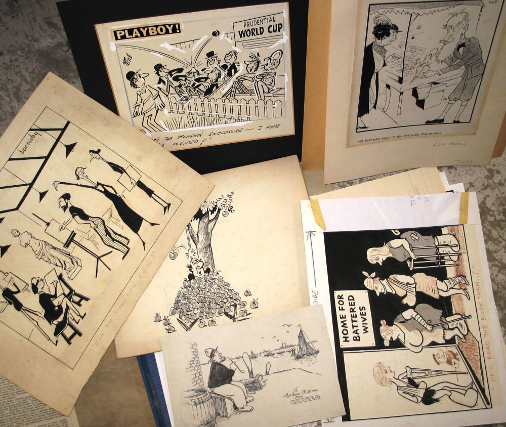 """Lot 30 - [CARTOONS] FARROW (Will) """"Mr Bernard Shaw finds another Pygmalion,"""" ink on board, signed with"""