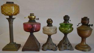 5 oil lamp bases (AF)