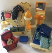 Sindy accessories (unboxed) including wardrobes, dressing table & chair,