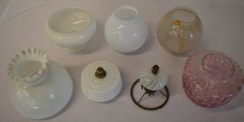 Approx 7 oil lamp shades (AF)