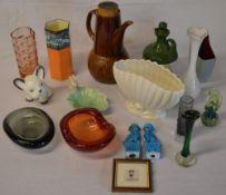 Various ceramics and glassware including Holmegaard, Sylvac,
