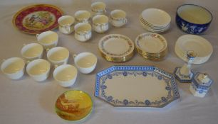 Various mixed ceramics including Wedgwood and Minton