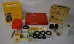 Brownie 8 movie projector, contact proof printer, lens hoods,