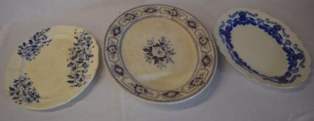 3 large ceramic meat dishes