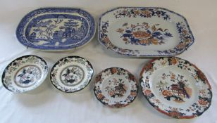 Various meat dishes and plates inc Ironstone