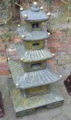 Oriental style garden pagoda