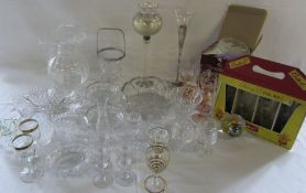 Various glassware inc Britvic Cherry B