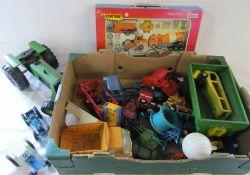 Various vintage toy cars,