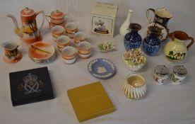 Japanese porcelain tea set, Leonardo figure,