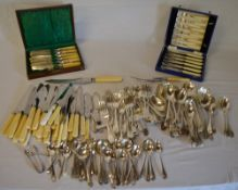 Large quantity of silver plated cutlery,
