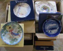 2 boxes of boxed collectors plates inc Royal Doulton,