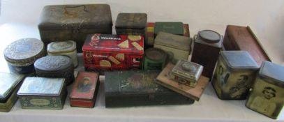 2 boxes of vintage advertising tins etc (sample shown)