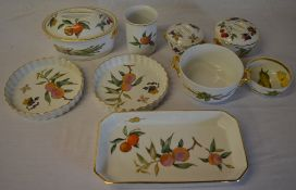 Royal Worcester Evesham table ware and similar octagonal dish