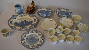 Various ceramics including blue & white tureens etc
