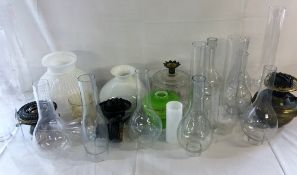 Paraffin lamp parts including funnels,