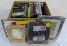 Selection of new and unused picture frames (in original shrink wrap)