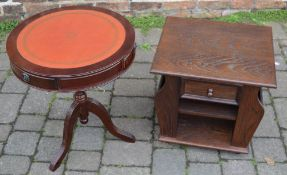 Reproduction drum table and a magazine table