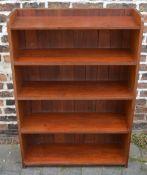 Mahogany bookcase H122cm by W84cm