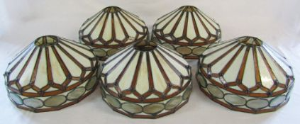 5 Tiffany style lamp shades D 30 cm