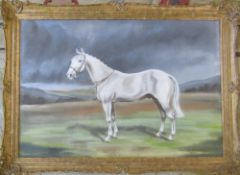 Gilt framed pastel drawing of a horse by Neil Cawthorne 102 cm x 74 cm (size including frame)
