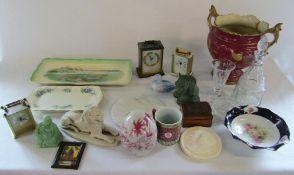 Assorted ceramics, glassware,