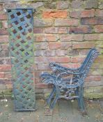 Garden bench ends and back