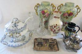 Various ceramics inc Masons,