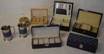 Ex shop stock - Good quality ladies jewellery boxes and gents watch boxes / vanity boxes with