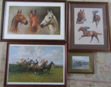 Assorted horse racing prints inc Grand National by Stephen Park 540/850 signed and numbered by the