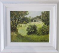 Oil on board 'Summers end' by Baz East (b.
