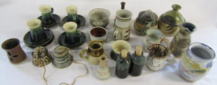 Assorted of studio pottery including Beverley Pottery,