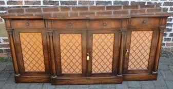 Regency style mahogany breakfront sideboard W183cm by H90cm