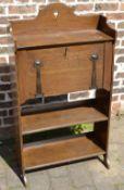 Art Nouveau small oak bureau