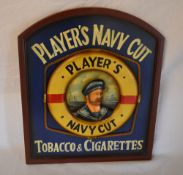 Player`s navy cut tobacco and cigarette advertising sign