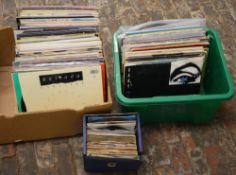 Quantity of records including a box of Elvis 45 singles,