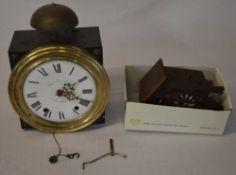 Francois Desire wall clock and a German cuckoo clock (AF)
