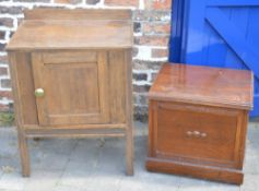 Bedside cabinet and a commode