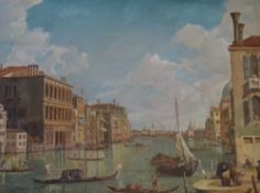 Oil on canvas of The Grand Canal at San Vio,