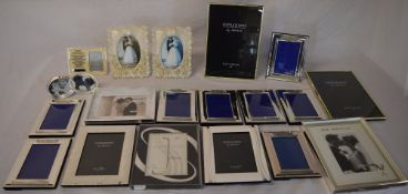 Ex shop stock - approx 19 good quality new photo frames with varying designs