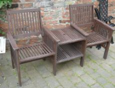 Tete a tete chairs and table