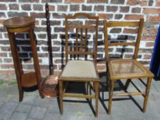 2 oak chairs,