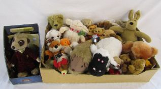 Selection of soft toys inc boxed Compare the Meerkat toy
