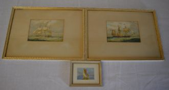 3 framed nautical watercolours