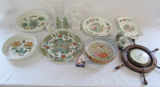 Assorted ceramics inc Portmeirion, Aynsley and Limoges,