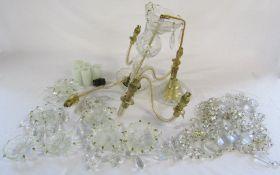 Glass chandelier (af)