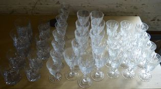 Large quantity of drinking glasses,