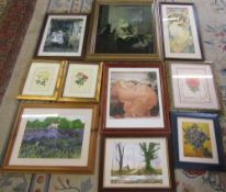 Assorted prints and paintings