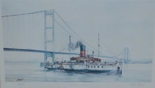 Signed print by David C Bell entitled 'Humber Heritage'